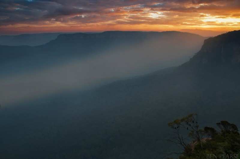 Blue Mountains bushfires landscape images