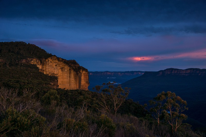 Blue Mountains sunset - Ben Pearse Photography