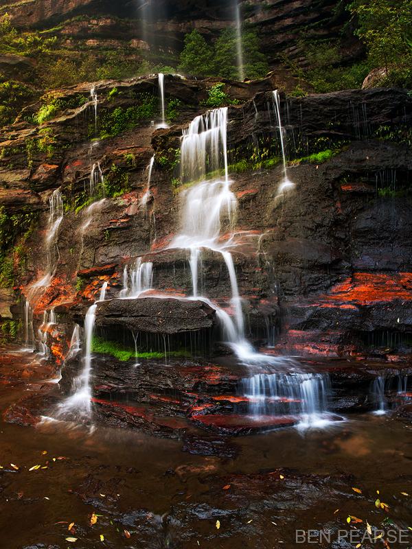 Katoomba Falls on Sunset - Ben Pearse Photography