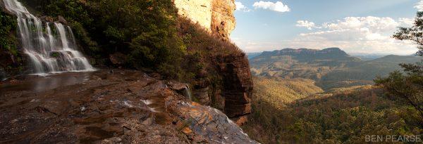 Katoomba falls panoramic - Ben Pearse Photography