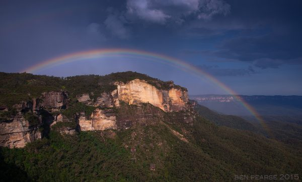 Landslide Rainbow - Ben Pearse Photography