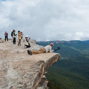 Lincol Rock Wentworth Falls - Ben Pearse Photography