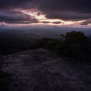 Sunset over megalong valley - Ben Pearse Photography