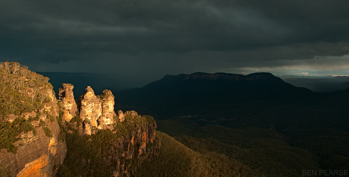 Storm light panoramic - Ben Pearse Photography