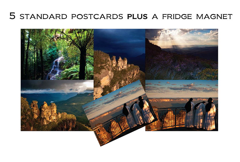 postcard images with magnet