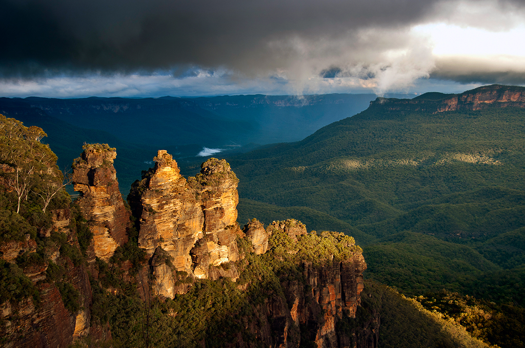 Three Sisters Stormy Afternoon