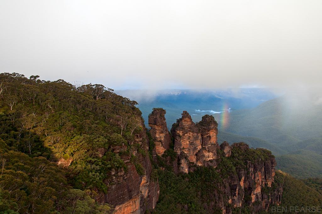 Three Sisters with Half Rainbow