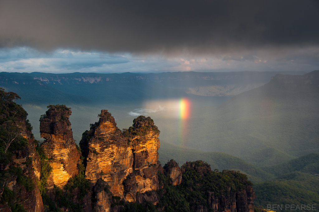 Three Sisters with Small Rainbow