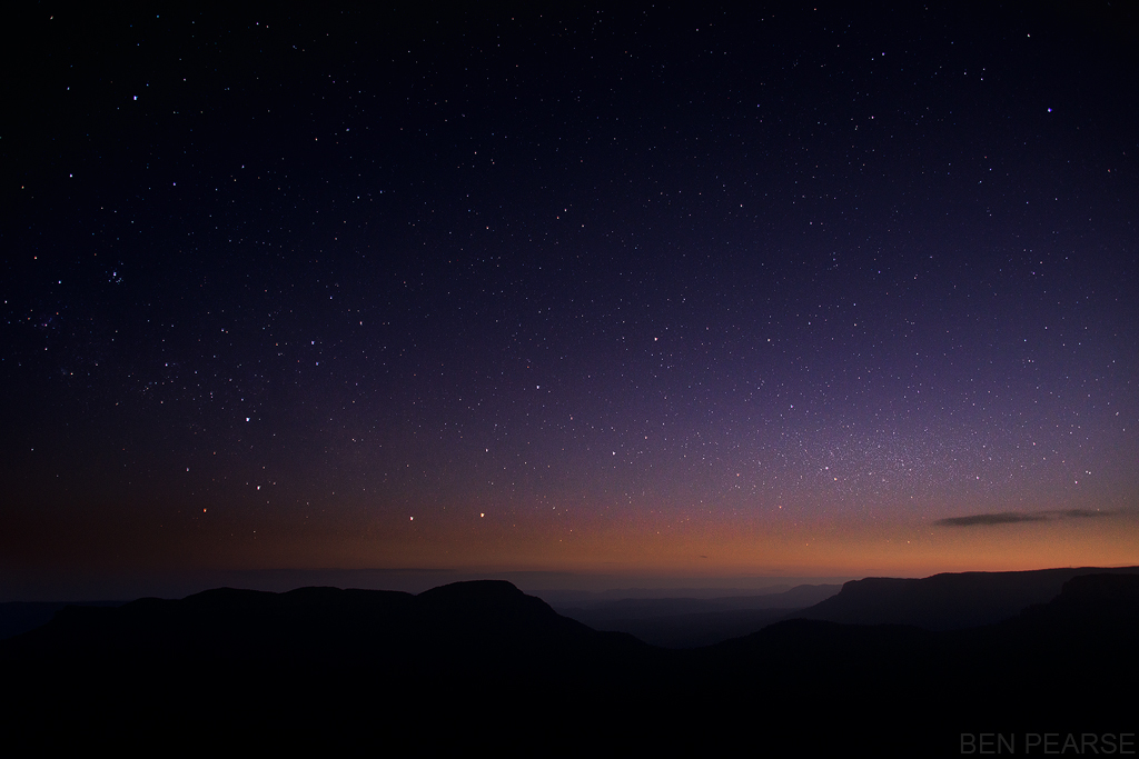 View the stars under a brilliant clear night sky