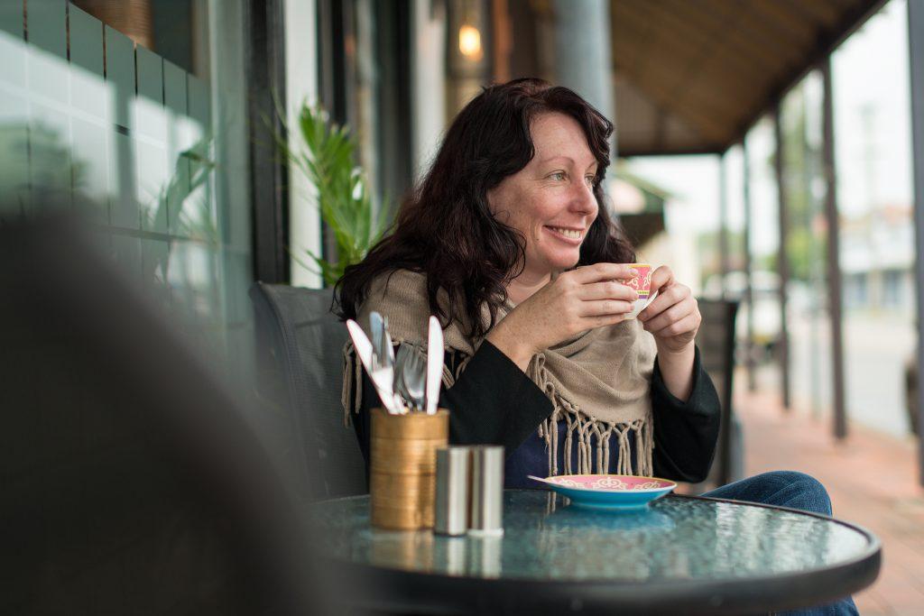 Coffee break- tourism shoot