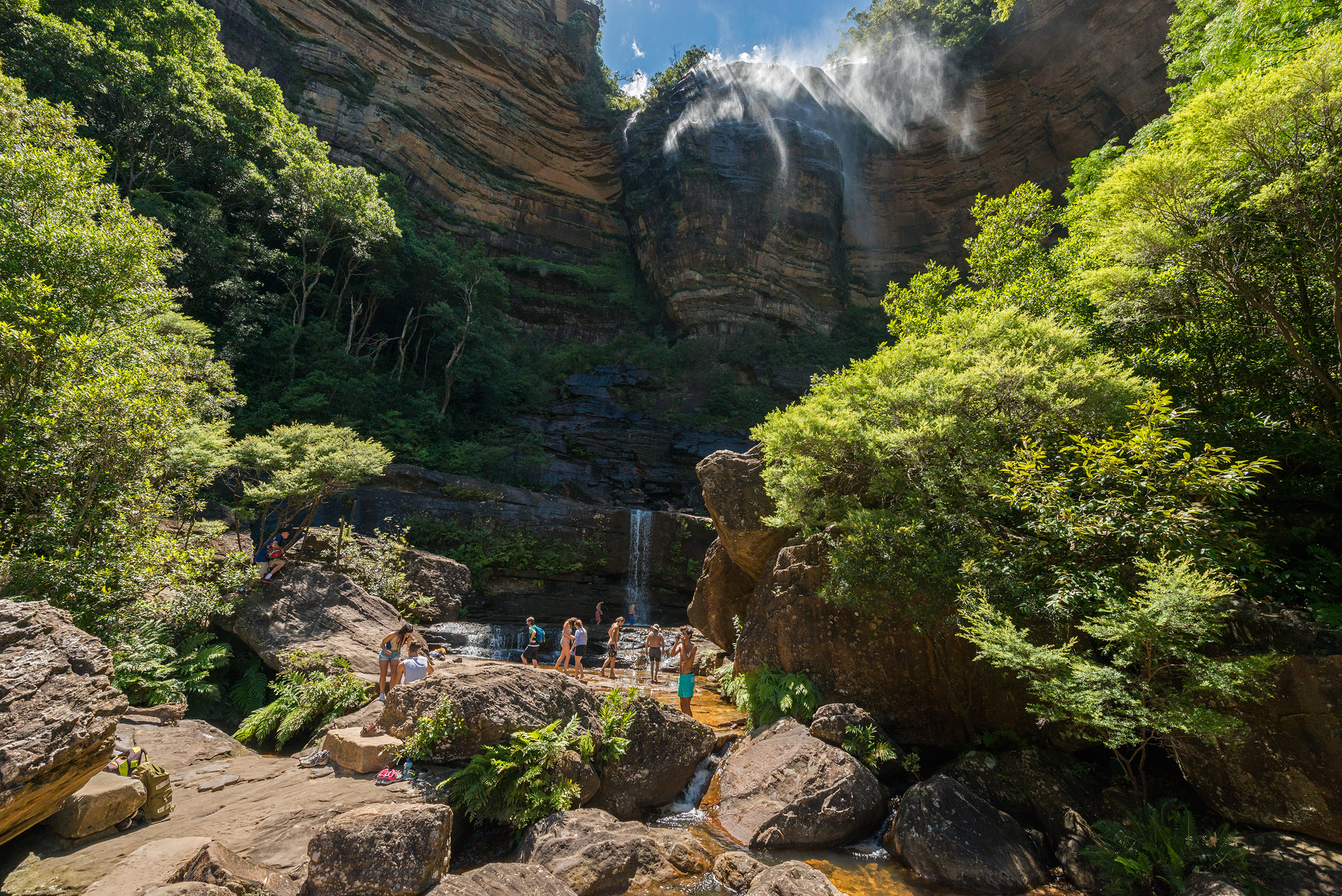 Tourists at Wentworth Falls