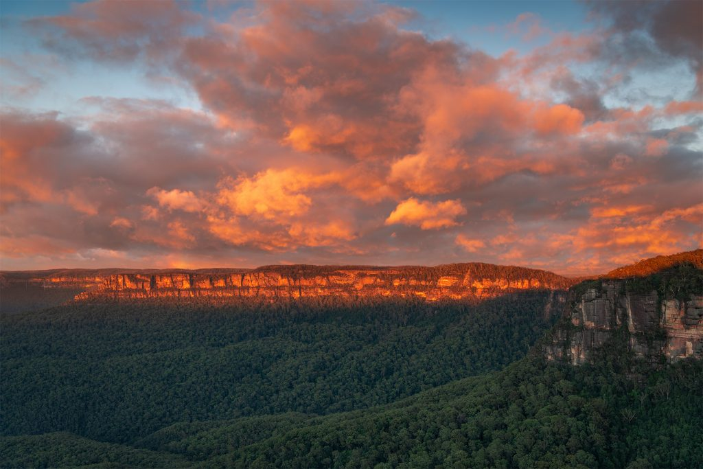 New Dawn- Sunrise over the Blue Mountains
