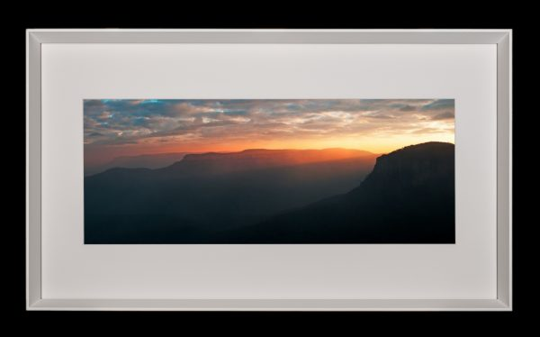 Afterglow- framed panoramic print