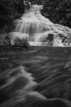 Unframed Rhythm and Flow- Black and White waterfall print