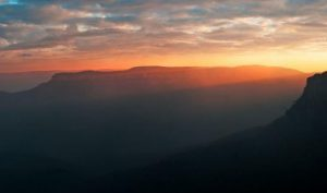 Afterglow- Blue Mountains panoramic print