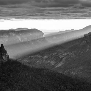 Unframed Pulpit Rays- Blue Mountains sunrise print