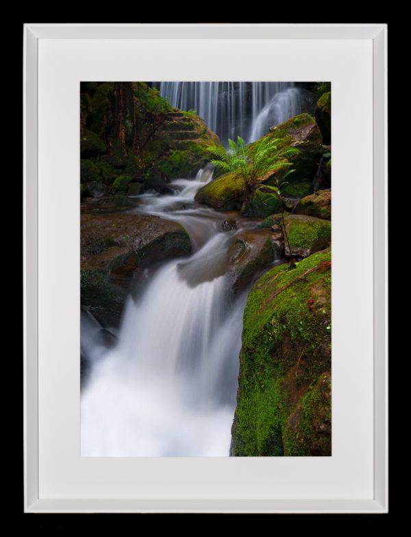 Weeping rock- framed waterfall print